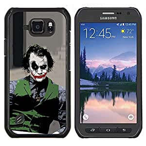 /Skull Market/ - Evil Joker For Samsung Galaxy S6 active/G870A/G890A (Not Fit S6) - Mano cubierta de la caja pintada de encargo de lujo -