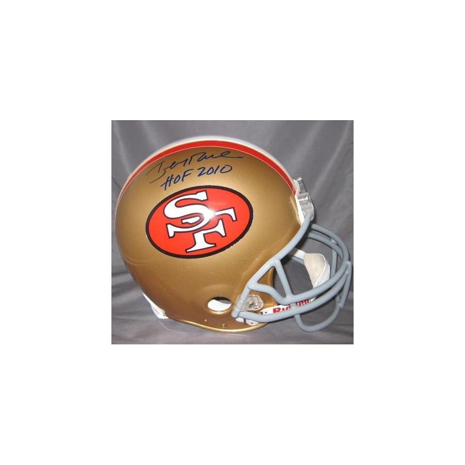 Jerry Rice Signed San Francisco 49ers Helmet W/hof 2010   Autographed NFL Helmets