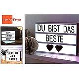 Trend Time® große Kino Licht Box Lightbox Kinowerbung LED KinoLicht Leuchtkasten Batteriebetrieb zum aufhängen inkl. Buchstaben, Zeichen und Symbolen weiße Front, per DHL Paket