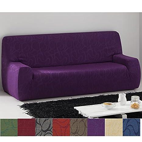 Jarrous Funda de Sofá Elástica Modelo Osezno, Color Cardenal, Medida 5 Plazas – 270-320cm