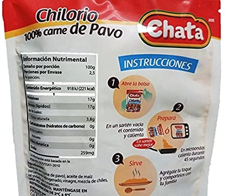 Amazon.com : Chata Chilorio de Pavo (Turkey), Pack of 2, and Tesadorz Resealable Bags : Grocery & Gourmet Food