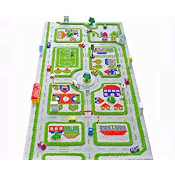 Amazon Com Ivi Traffic 3d Play Rugs Green X Large