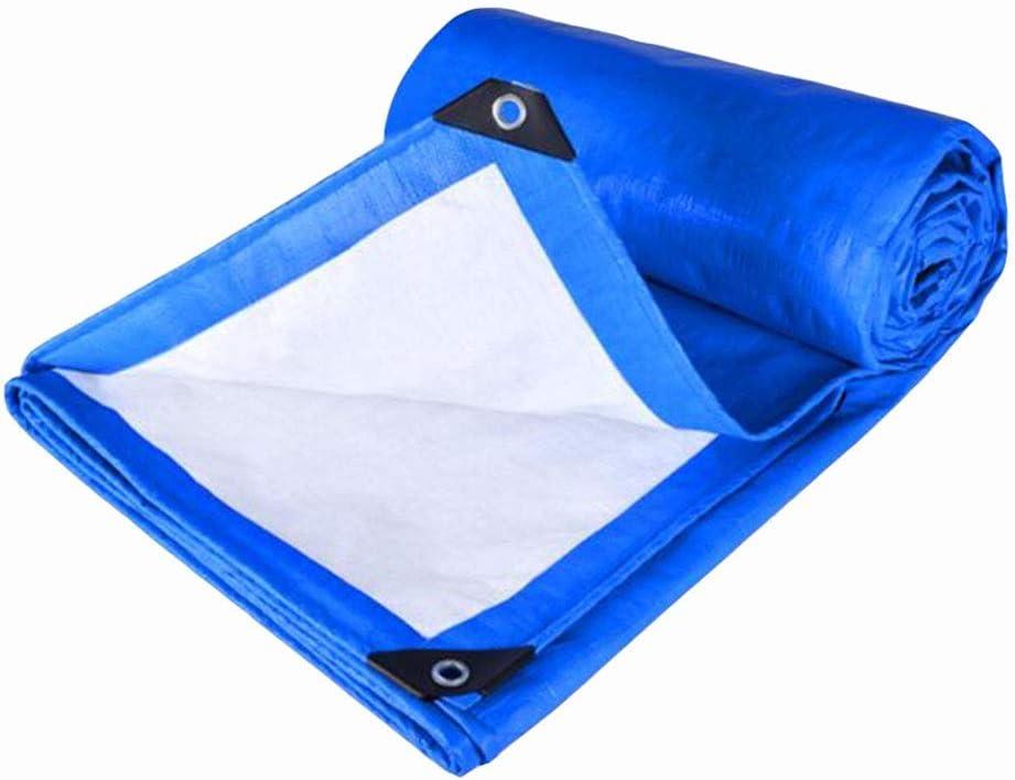 DALL ターポリン 両面防水 アウトドア 日焼け止め 保護カバー 耐摩耗性 厚さ0.35mm (Color : 青, Size : 6×6m) 青 6×6m