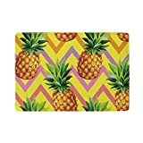 U LIFE Summer Striped Pineapples Tropical Passport Cover Holder Case Leather Protector with Slots for Women Men Kids
