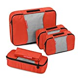 Travel Packing Cubes, Gonex Luggage Organizers L+M+2Slim+Laundry Bag Tangerine