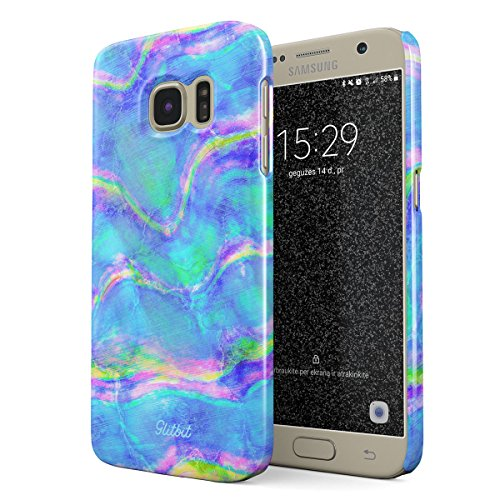 Iris Abalone (Glitbit Compatible with Samsung Galaxy S7 Case Mermaid Paua Abalone Haliotis Iris Holographic Iridescent Mother of Pearl Opal Cotton Candy Thin Design Durable Hard Shell Plastic Protective Case Cover)
