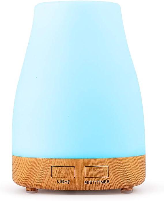 酒瓶ベース木目リモコンアロマディフューザー、家庭用環境対応超音波エッセンシャルオイルディフューザー300ml、快適な外観、若者に最適