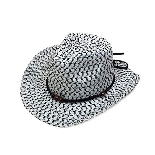 Hollow West Cowboy for Kids Summer Beach Caps Solid Western Cowboy Hat Children Sun Visor Cap with Wide Brim