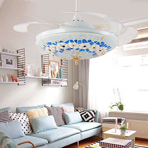 Huston Fan White Mediterranean Style Indoor Home Retractable Ceiling Light With Fan Living Room Kidu0027s Bedroom & Huston Fan White Mediterranean Style Indoor Home Retractable Ceiling ...