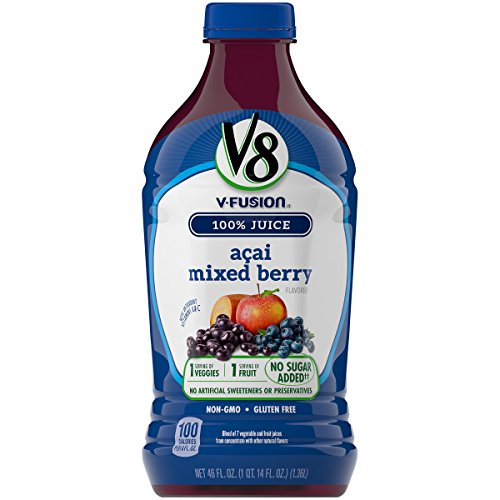 V8 Acai Mixed Berry, 46 oz. Bottle (Pack of 6)
