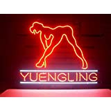 XINHANG 17X14 Inches Real Glass Neon Light Sign for Yuengling Live Nudes Girl Design Shop Store Game Room Beer Bar Home Display