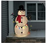 4 Feet Collapsible Snowman Christmas Outdoor Decoration
