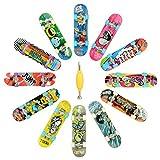 Hometall 12 PCS Professional Mini Fingerboards Finger Skateboard(12 PCS)