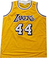 detailed look 99578 598c3 Jerry West Hand Signed Autographed #44 Yellow Jersey Los ...