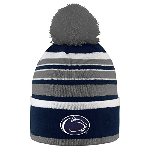 Penn State University Bradshaw Striped Pom Beanie