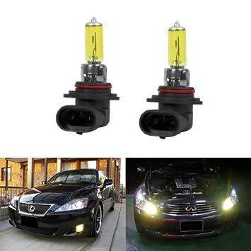 IJDMTOY 3000K Super Yellow 9006 HB4 Halogen Fog Light Bulbs Driving Spot Lights