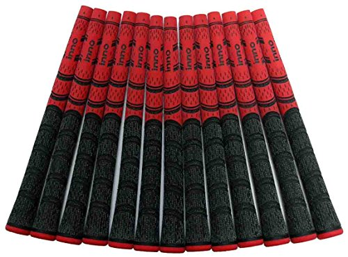 13 Two Tones, Multi Compound-Cord Golf Grips (Red/Blk) ()