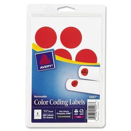 2020RG Avery Round Color Coding Multipurpose Label - 1.25