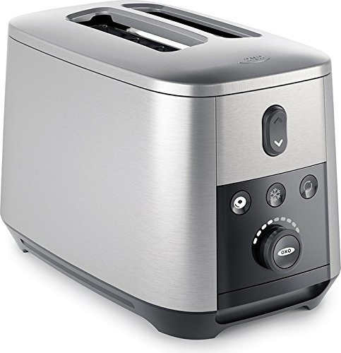 OXO On 2-Slice Lever-Free Motorized Toaster