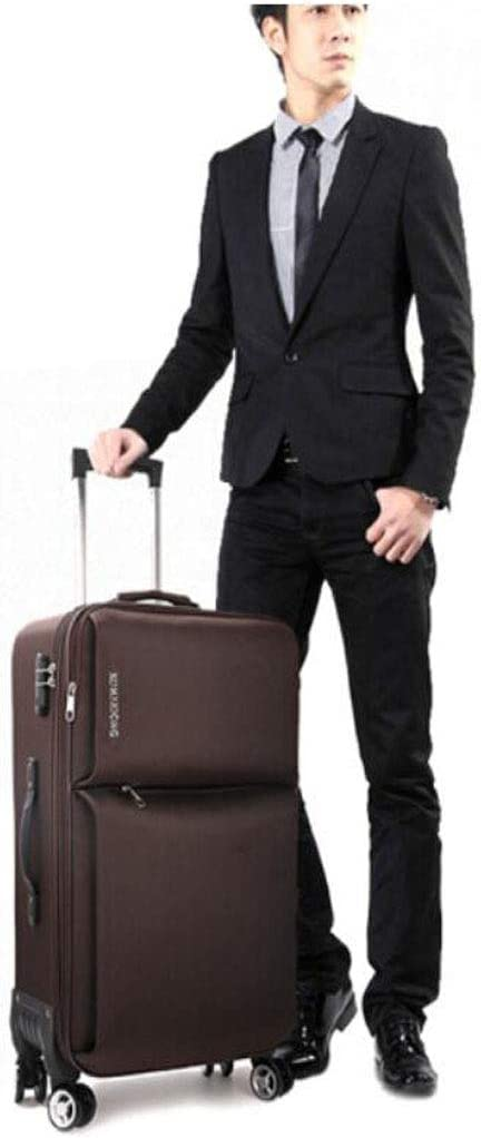 Color : Brown, Size : 161227 inch 35 24 57 Aishanghuayi Suitcase for Casual Lightweight wear-Resistant encrypted Waterproof Oxford Cloth Suitcase Black cm Blue Size