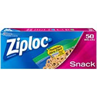 Ziploc Bolsas para Snack, 50 Bolsas