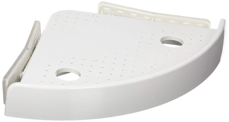 yakaso Badezimmer Waschraum Regal Snap-up-Regale 1 Stück Weiß Eckregal Caddy Keine Schrauben