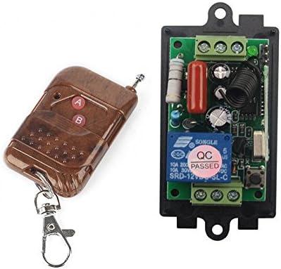 2 émetteurs 220 V 10 A 1CH Fréquence Radio Télécommande sans fil apprendre code 8 Récepteurs