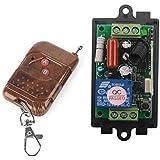 AC 220V 1canal 10A Relais Récepteur + Émetteur récepteur Télécommande radio commande à distance–Système de commutation sans fil 2Bouton émetteur & pour lumière 433MHz sortie relais interrupteur Support fernfunksc Kit Télécommande un de/en Pompe à moteur porte de garage