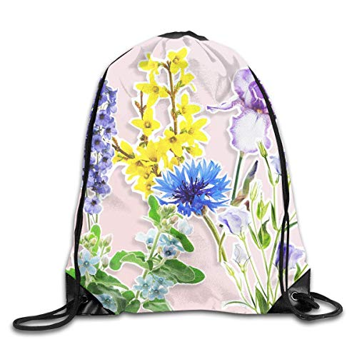 DKFDS Backpacks Seasonal Flowers Drawstring Backpack Bag Shoulder Bags Gym Bag for -