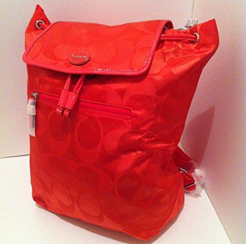 Coach Getaway Signature Backpack Orange