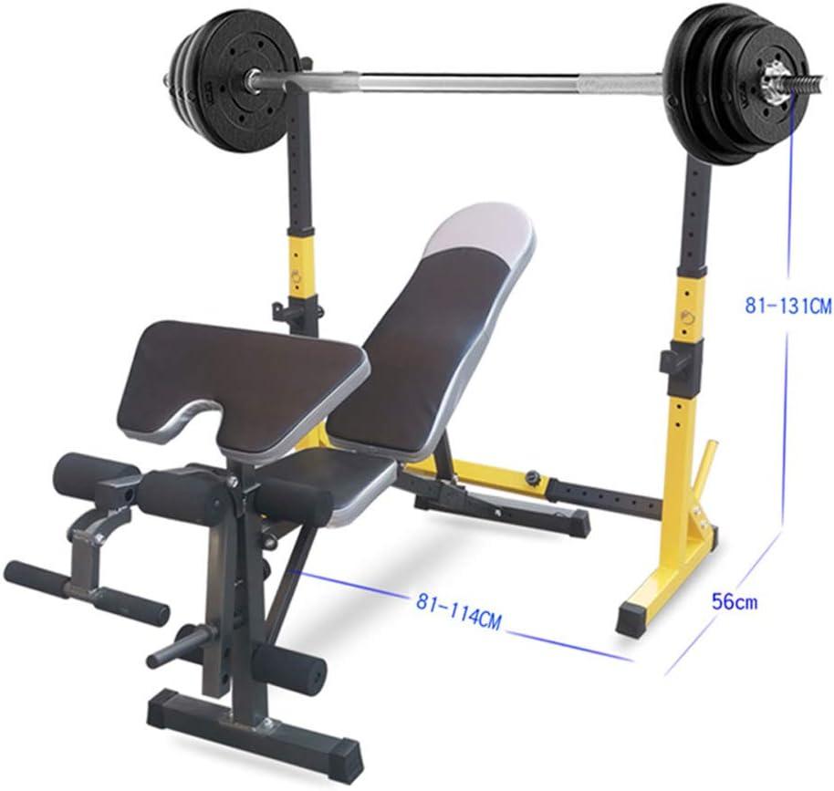 Sturdy Steel Squat Barbell Free Bench Press Stands Gym//Home Gym Portable Dumbbell Racks Stands Max Load 550Lb Van Alderman Aldermen Barbell Rack Squat Rack Adjustable Squat Rack