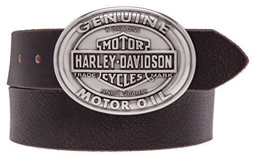 Harley-Davidson Men's Full Service B&S Buckle Genuine Belt HDMBT10836-BRN (38)