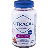 Citracal Calcium Gummies, 500 mg Calcium Citrate With 1000 IU Vitamin D3, Bone Health Supplement for Adults, Natural Flavor Blueberry, Strawberry and Watermelon Chewables, 70 Count For Sale