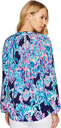 Lilly Pulitzer Women's Elsa Top Bright Navy Caught Up X-Large by Lilly Pulitzer (Image #2)