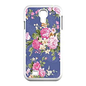 Samsung Galaxy S4 I9500 Phone Cases White Vintage Floral Pattern FXC546329