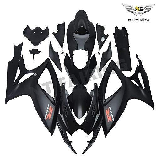 (NT FAIRING Matte Black Injection Mold Fairing kits Fit for Suzuki 2006 2007 GSXR 600 750 K6 GSX-R600 Aftermarket Painted ABS Plastic Motorcycle Bodywork)