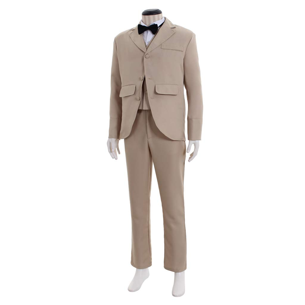 Victorian Men's Costumes: Mad Hatter, Rhet Butler, Willy Wonka COUCOU Age Victorian Costume Men Victorian Suit Top Shirt Vest Pants Plus Size $126.99 AT vintagedancer.com