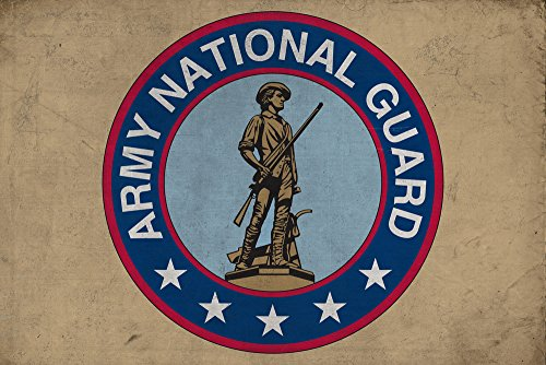 (Army National Guard - Military - Insignia (9x12 Fine Art Print, Home Wall Decor Artwork Poster))