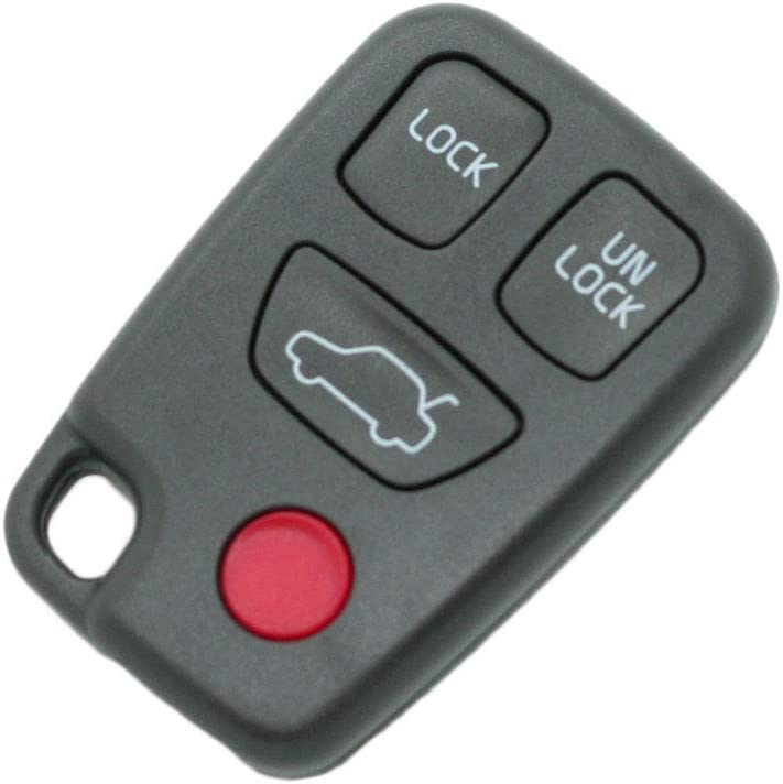 SEGADEN Replacement Key Shell fit for VOLVO 4 Button Keyless Entry Remote Key Case Fob PG783