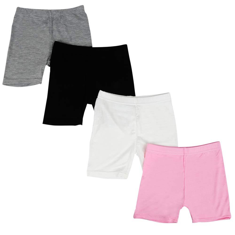 Nightaste Little Girls Modal Boyshort Panties Safety Dance Bike Shorts for Kids Girls Assorted 4 Pack