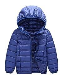 Happy Cherry Down Coat Ultra Light Hooded Coats Winter Waterproof Down Jacket