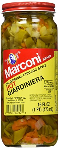 (Marconi Hot Giardiniera, 16 Ounce)