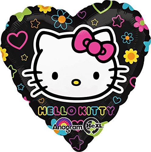 Anagram International Hello Kitty Tween Heart Foil Balloon Pack, Multicolor]()