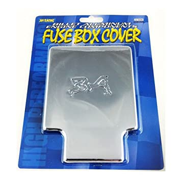 3a racing polished billet fuse box cover 92 93 94 95 96 97 98 99 00 honda  civic ex lx si dx