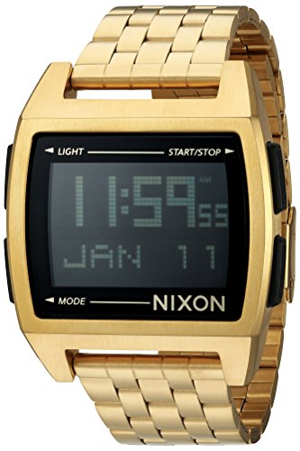 Nixon Men's 'Base' Digital Module Stainless Steel Casual Watch, Color:Rose Gold-Toned (Model: - Watches Gold Mens Nixon