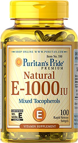 Puritan's Pride Vitamin E-1000 IU Mixed Tocopherols Natural