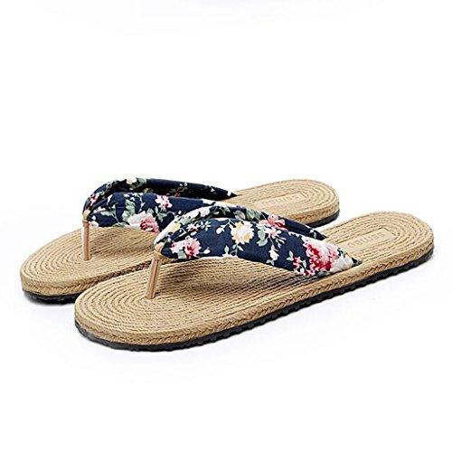 Mode Sandales Semelle Caoutchouc Chaussons Été Clip Toe Chaussures Antidérapante Plates 3 Mme en q0q1rg