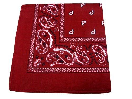 Paisley Cotton Bandana - Ban Red