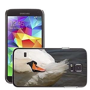 Etui Housse Coque de Protection Cover Rigide pour // M00110704 Pájaro Cisne El jefe de la Primer // Samsung Galaxy S5 S V SV i9600 (Not Fits S5 ACTIVE)