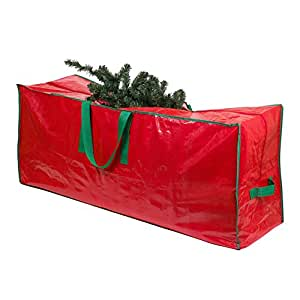 """Christmas Tree Storage Bag - 48"""" x 15"""" x 20"""" - Roomy, zippered bag with 2 reinforced handles stores a 4-foot disassembled, artificial Christmas tree. Protects against dust, insects, and moisture."""
